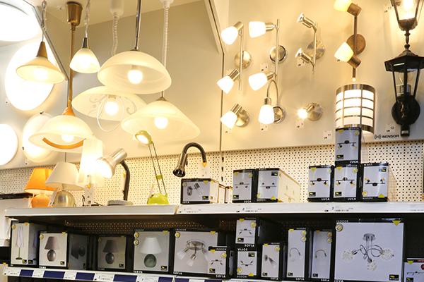 Rudolf Krämer Baumarkt-Handel GmbH - Abteilungen - Lampen, Leuchtmittel